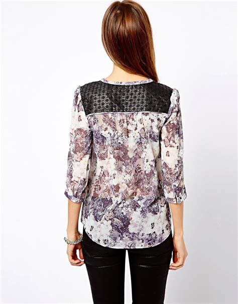 Rev Address Lookup Warehouse Placement Floral Zip Blouse Lace Henley Blouse