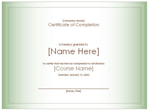 Award Certificate For Completion Of Course Free Certificate Templates In Academic Award Course Completion Certificate Template