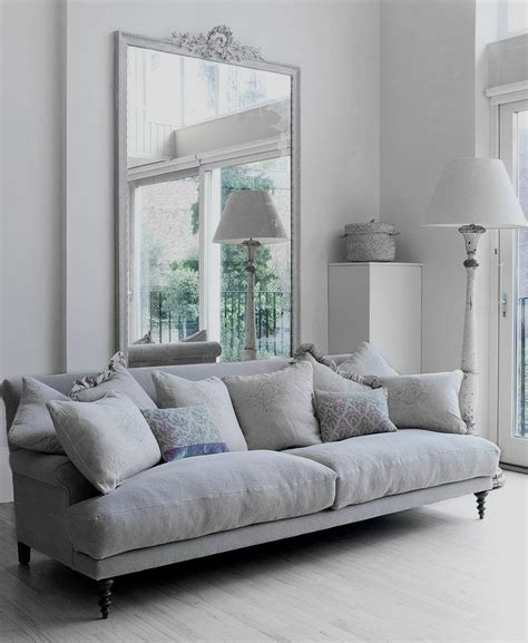 living room with gray couch dove gray home decor light and airy white and grey