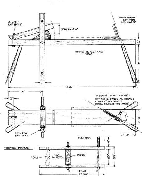 shaving bench plans building a shaving horse something i found