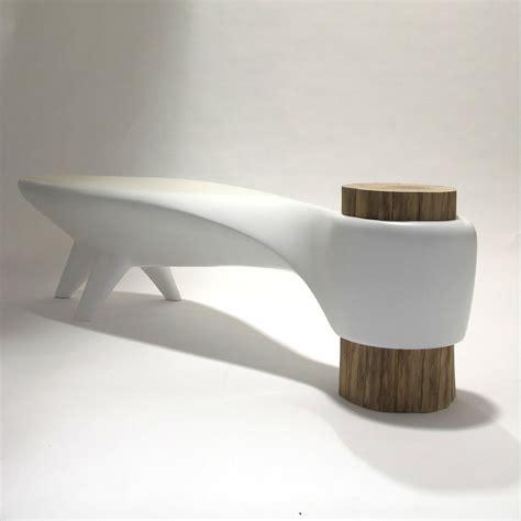 organic bench akene bench white binome touch of modern