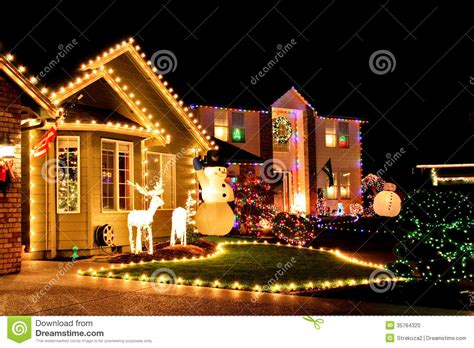 christmas village lights editorial image image 35764320