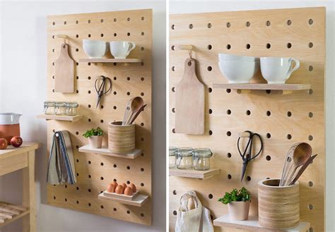 Organize Kitchen by 9 Ideas For Using Pegboard And Dowels To Create Open