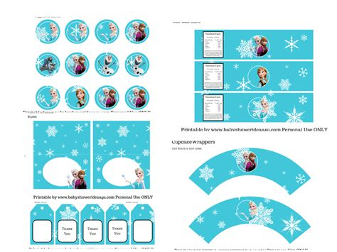 printable frozen set nice frozen free printable kit oh my fiesta in english