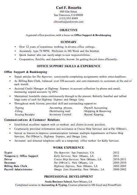 Bookkeeper Office Manager Sle Resume by 1000 Images About Resumes On Resume Resume Exles And See World
