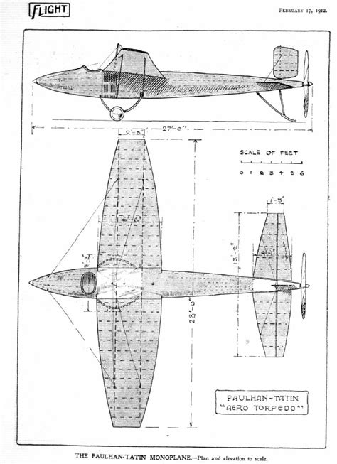 airplane diagram for file airplane design diagram 1912 tatin torpedo pdold png