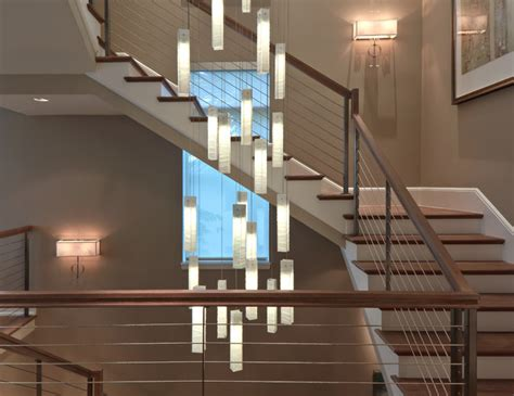 Staircase Lighting Fixtures Tanzania Chandelier Contemporary Living Room Stairwell Light Fixture Contemporary