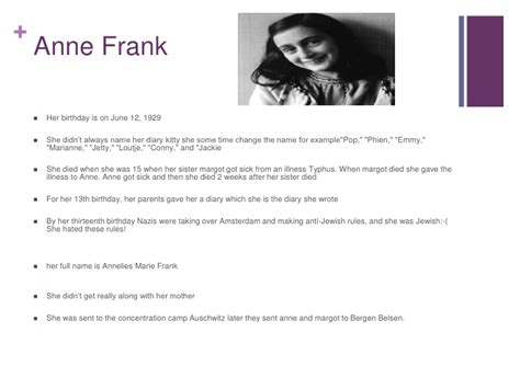 anne frank biography sparknotes facts about anne frank and others in the secret annex