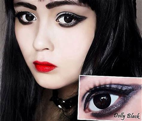 colourvue bigeyes dolly black contact lenses | optyk rozmus