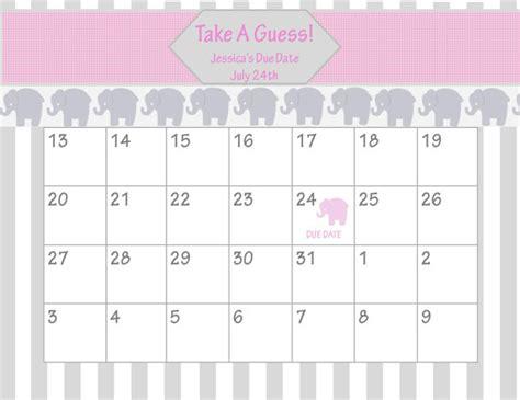 Baby Due Date Calendar Baby Shower Due Date Calendar Calendar Template 2016