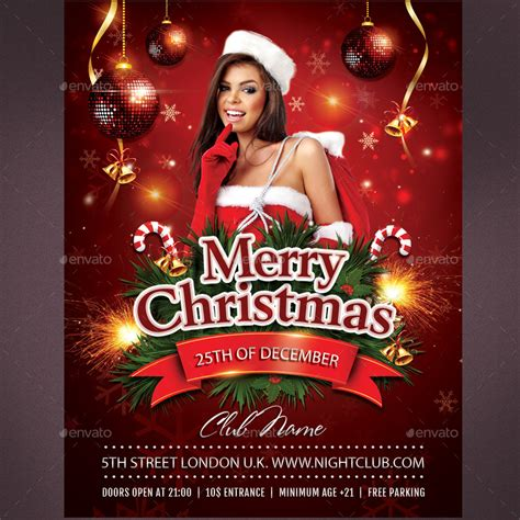 merry christmas flyer  rembassio graphicriver