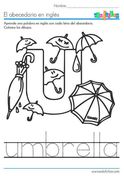 imagenes en ingles con letra u el abecedario en ingl 233 s fichas educativas infantiles gratis