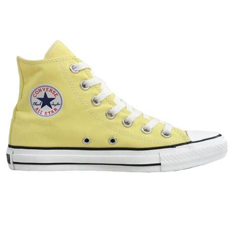 light yellow converse shoes converse light yellow all star canvas women s hi top boot
