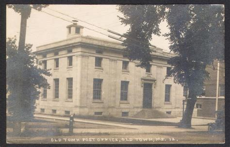Post Office Auburn Maine by Town Me 1920 Post Office Real Photo Postcard Ebay