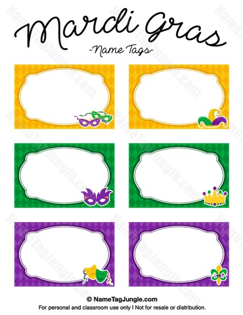 free printable mardi gras name tags the template can also