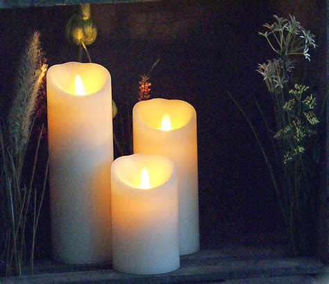 Kerzenhalter Für Große Kerzen by Led Kerze 8 X 17 Cm Elfenbein Led Kerzen Kerzen