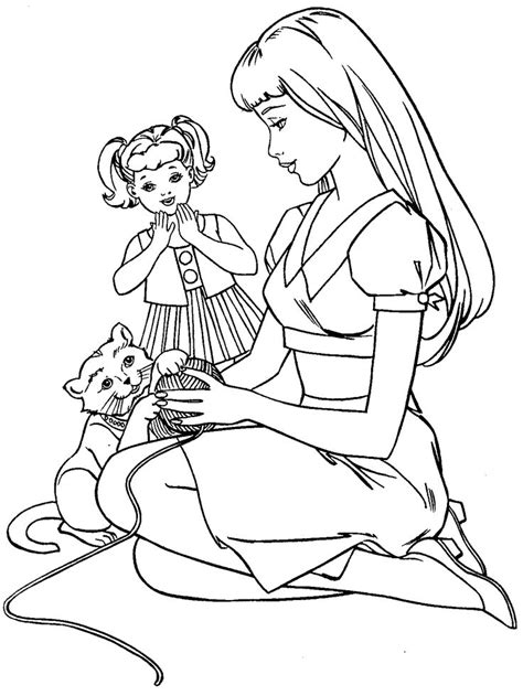 barbie coloring page barbie house remodel pinterest