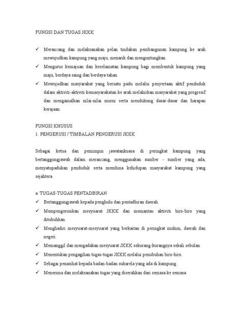 Fungsi Dan Bio fungsi dan tugas jkkk