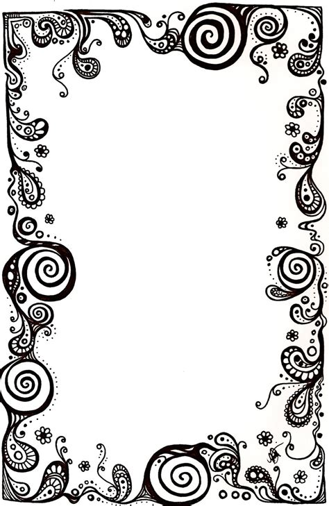 pattern frame drawing paisley border clip art cliparts co
