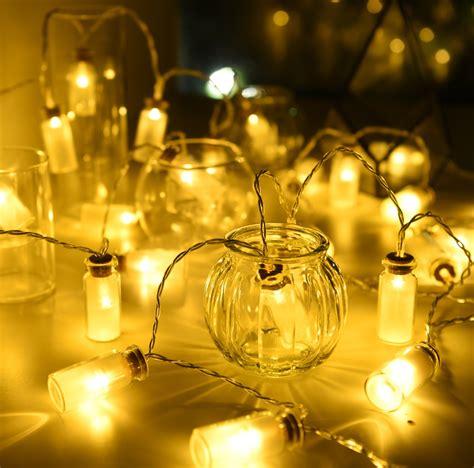 led string lights oak leaf 9 8 ft 30 leds vintage clear