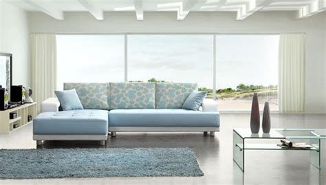 Baby Blue Leather Sofa by Modern Baby Blue Leather Sectional Sofa