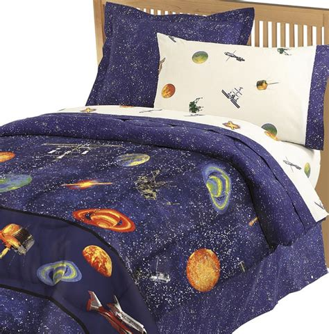 Size Comforter Set Boys Outer Space Theme Bedroom Blue Bedding Ebay Themed Bedroom Ideas Outer Space Bedding Outer Space Bedding Size Interior Designs
