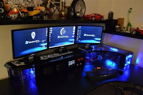 Gaming Pc Desk Setup Gaming Desk 1 2 Pc Workstation Gaming Setup Gaming Desk Desks And Projects