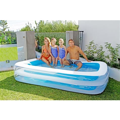 Cool Doormats by Airtime Inflatable Rectangular Family Pool Blue Large Size