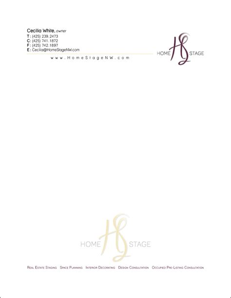 from the desk of homestage new letterhead from the desk of kayce williams