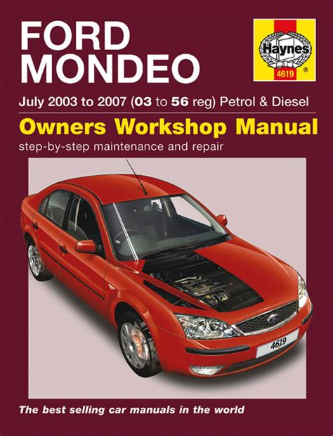 haynes repair manual ford mondeo mk2 ford mondeo petrol diesel july 03 07 haynes repair manual haynes publishing