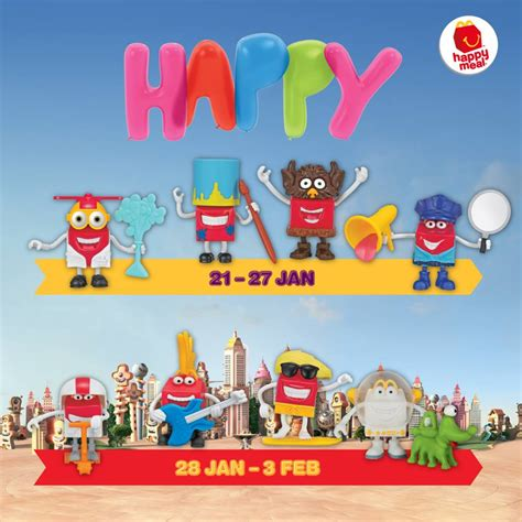 Free Toy Giveaways - mcdonald s free happy in 8 occupation themed characters toys giveaway