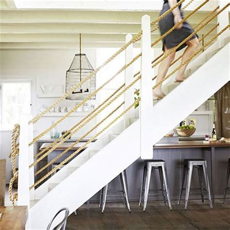 rope banisters for stairs add a rope bannister balustrade to staircase http www