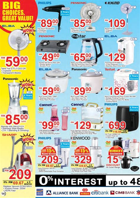 aeon big discount promotion catalogue   april