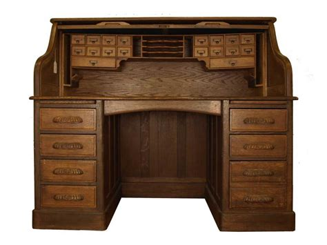Antique Home Office Desk Classic Oak Roll Top Desk Office Furniture