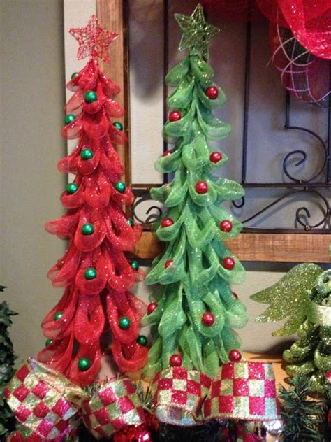 mesh trees christmas pinterest