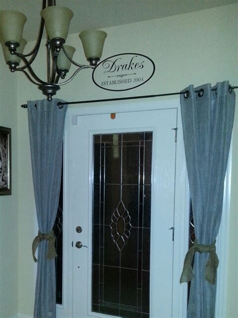 curtains for sidelights 1000 ideas about sidelight curtains on pinterest