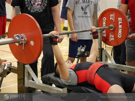 high school bench press records bronte college