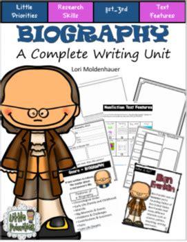 biography writing unit little priorities teaching resources teachers pay teachers