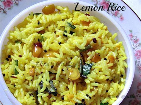 Indian Style Rice Recipe — Dishmaps Lemon Rice Recipe South Indian Style