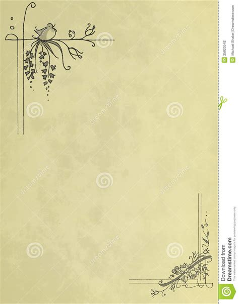 beige vintage stationery stock photography image 25820542