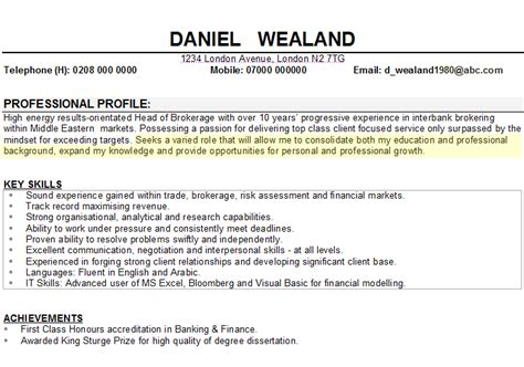 personal summary example for resumes