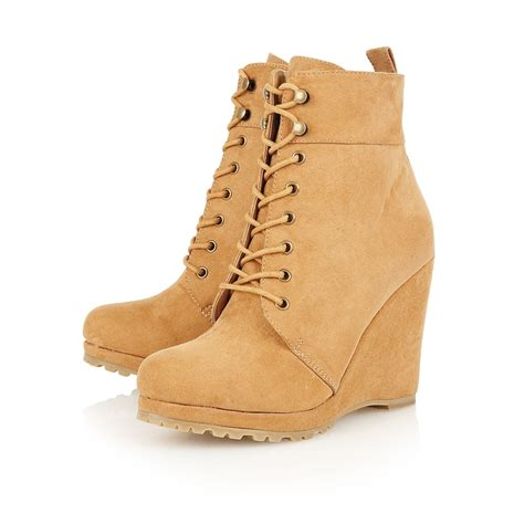 buy dolcis perrie lace up wedge ankle boots