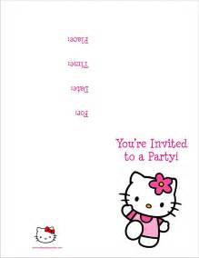 hello free printable birthday invitation personalized invites