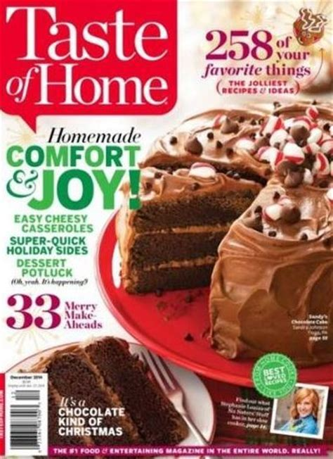 taste of home magazine 1 year subscription 6 25