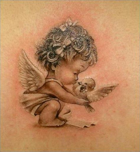 little angel tattoos black baby tattoos search and tat