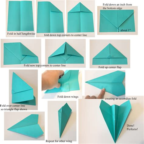 Folding Paper Airplane - doodlecraft astrobrights paper airplanes
