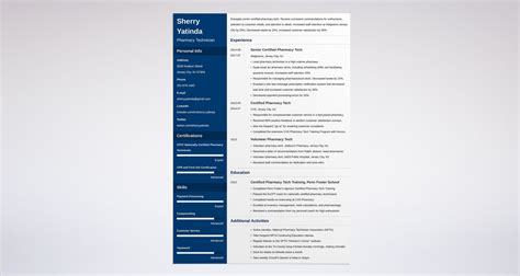 pharmacy technician resume template pharmacy technician resume guide with a sle 20 exles