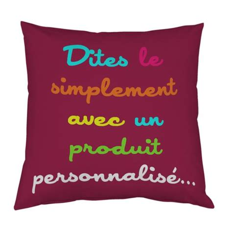 coussin personnaliser coussin personnalis 233 decodeo