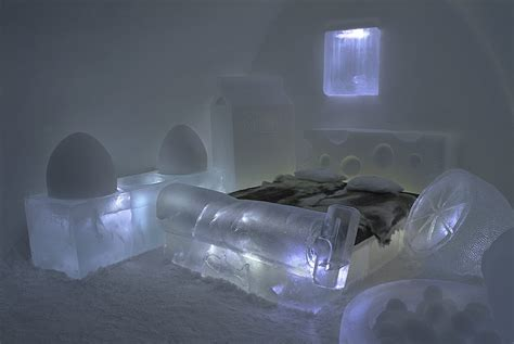ice hotel quebec bathroom hcorner the world s most unusual hotel beds 21 photos