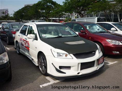 mitsubishi lancer glx modified autosalon singapore expo car park random part